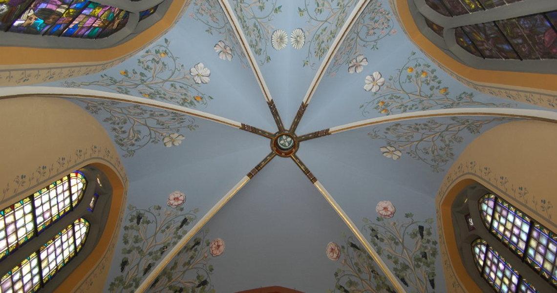 art decor totaalconcepten historische interieurs overzicht gewelfschilderingen priesterkoor